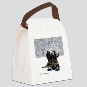 Scottish Terrier Christmas Canvas Lunch Bag