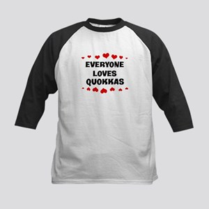Loves: Quokkas Kids Baseball Jersey
