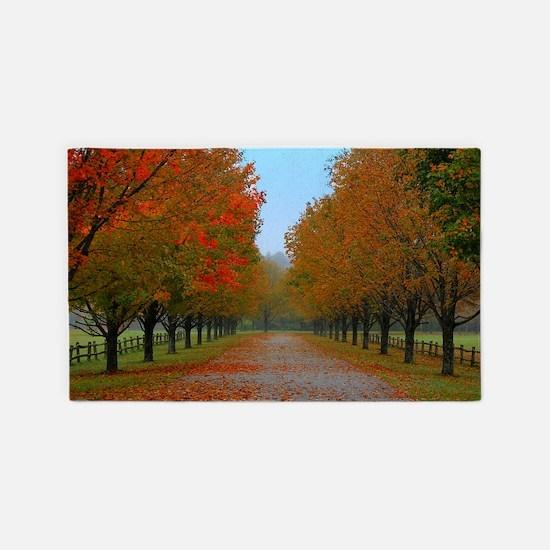 Dreamy Fall New England Drive 3'x5' Area Rug