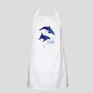 Blue dolphins BBQ Apron