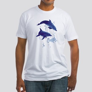 Blue dolphins Fitted T-Shirt