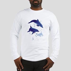 Blue dolphins Long Sleeve T-Shirt