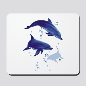 Blue dolphins Mousepad
