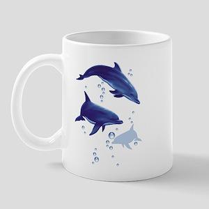 Blue dolphins Mug