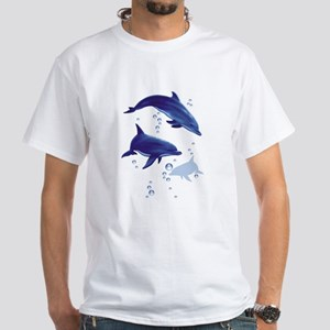 Blue dolphins White T-Shirt