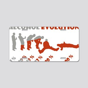 Alcohol evolution Aluminum License Plate