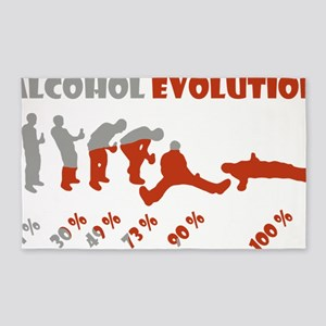 Alcohol evolution 3'x5' Area Rug