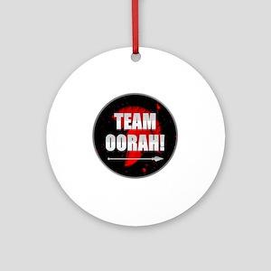 Team Oorah Shirt Round Ornament