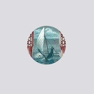 1914 Zanzibar Sailing Canoe Postage St Mini Button