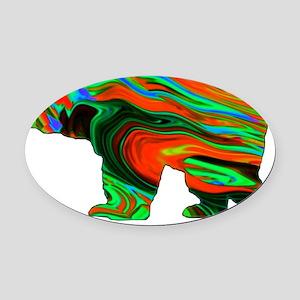 Spirit Bear Oval Car Magnet