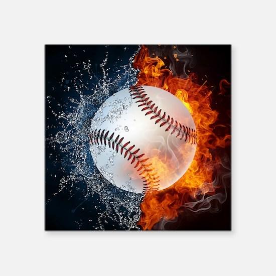 "Baseball Square Sticker 3"" x 3"""