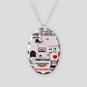SPN Favourite Quotes 5 Necklace Oval Charm