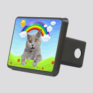 Rainbow Kitty Rectangular Hitch Cover