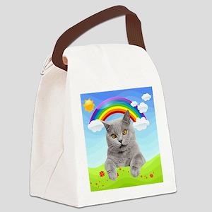 Rainbow Kitty Canvas Lunch Bag