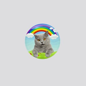 Rainbow Kitty Mini Button