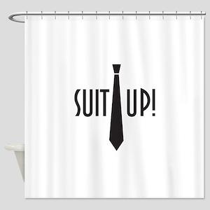Suit Up! Shower Curtain