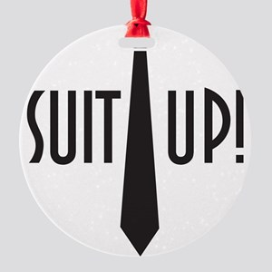 Suit Up! Round Ornament