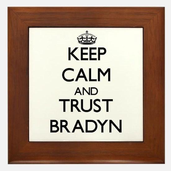 Keep Calm and TRUST Bradyn Framed Tile