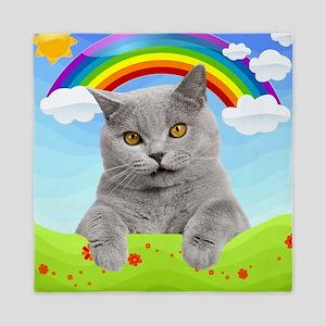 Rainbow Kitty Queen Duvet