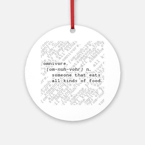 Omnivore Round Ornament
