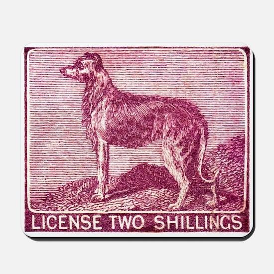Antique 1904 Ireland Dog License Revenue Stamp Mou