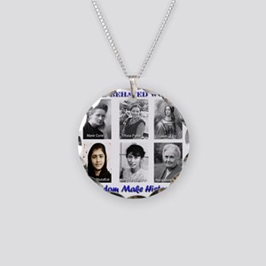Well-Behaved Women Necklace Circle Charm
