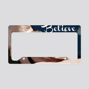 Believe butterfly License Plate Holder