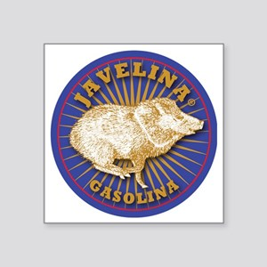 """Javelina Gasolina Square Sticker 3"""" x 3"""""""