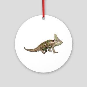 Chameleon Photo Ornament (Round)