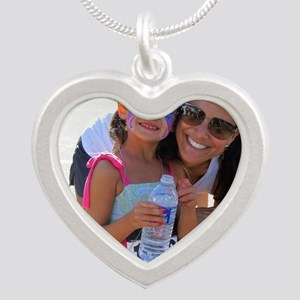 Race for Research Kids Fun R Silver Heart Necklace