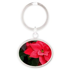 Holiday Poinsettia Keychains