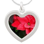 Holiday Poinsettia Necklaces