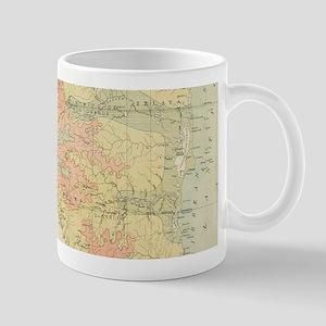 Vintage Map of Nicaragua (1903) Mugs
