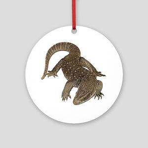 Komodo Dragon Photo Ornament (Round)