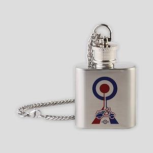 Retro Scooter Mod Designer T-shirt Flask Necklace