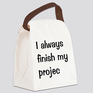 Very Funny Project Manager Quote Canvas Lunch Bag