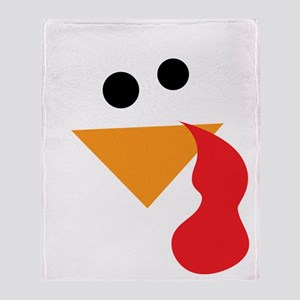 Funny Turkey Thanksgiving Throw Blanket