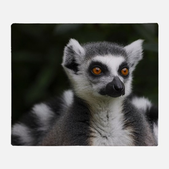 Ring tailed lemur Throw Blanket