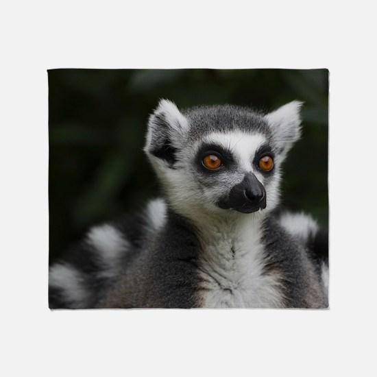 Ring tailed lemur Throw Blanket