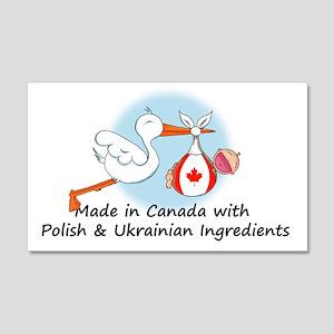 polish canadian ukrainian 20x12 Wall Decal