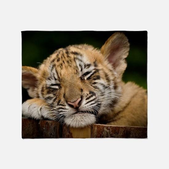 Siberian Tiger Cub Throw Blanket