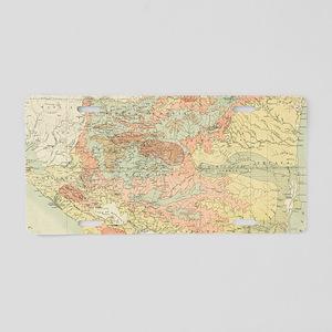 Vintage Map of Nicaragua (1 Aluminum License Plate