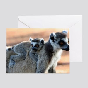 Ring Tailed Lemurs Greeting Card