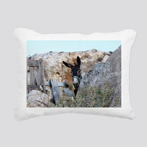 Donkeys! Rectangular Canvas Pillow