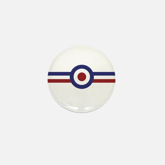 Retro scooter and mod target stripes Mini Button