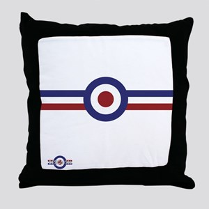 Retro scooter and mod target stripes Throw Pillow