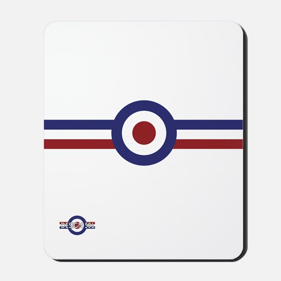 Retro scooter and mod target stripes Mousepad