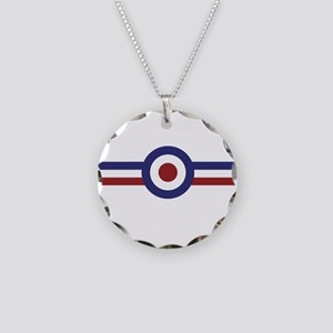 Retro scooter and mod target Necklace Circle Charm