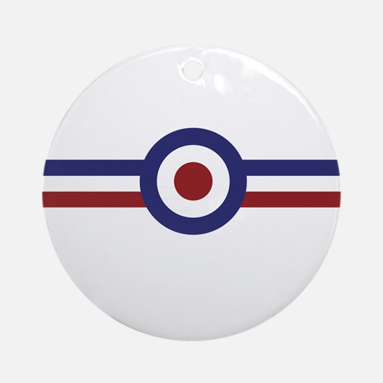 Retro scooter and mod target stripe Round Ornament