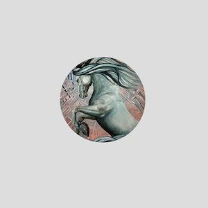 Blue Horse 10 Mini Button